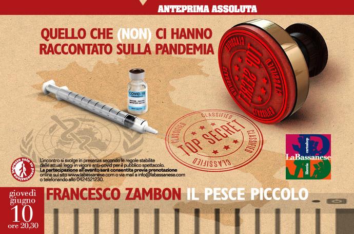 Pandemia senza censura. Incontro con Francesco Zambon in libreria.