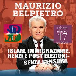 video Maurizio Belpietro senza censura: Islam, immigrazione e post elezioni.