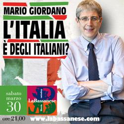 video L`Italia è degli italiani? Con Mario Giordano, giornalista e conduttore tv.
